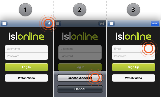 ISL Light iOS Sign Up