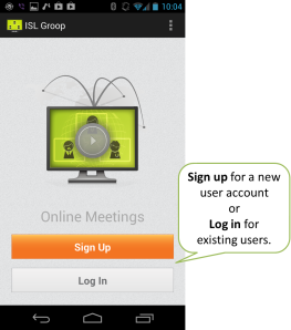 Sign up or log in to start using ISL Groop