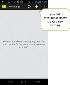 Create a new online meeting.