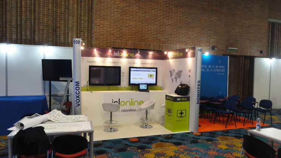 ISL Online Stand 109 at EXPO MiPyme DIGITAL 2014 in Colombia