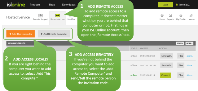 How to add remote access to a computer