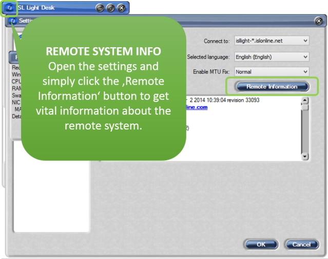 Get remote system information for quick troubleshooting