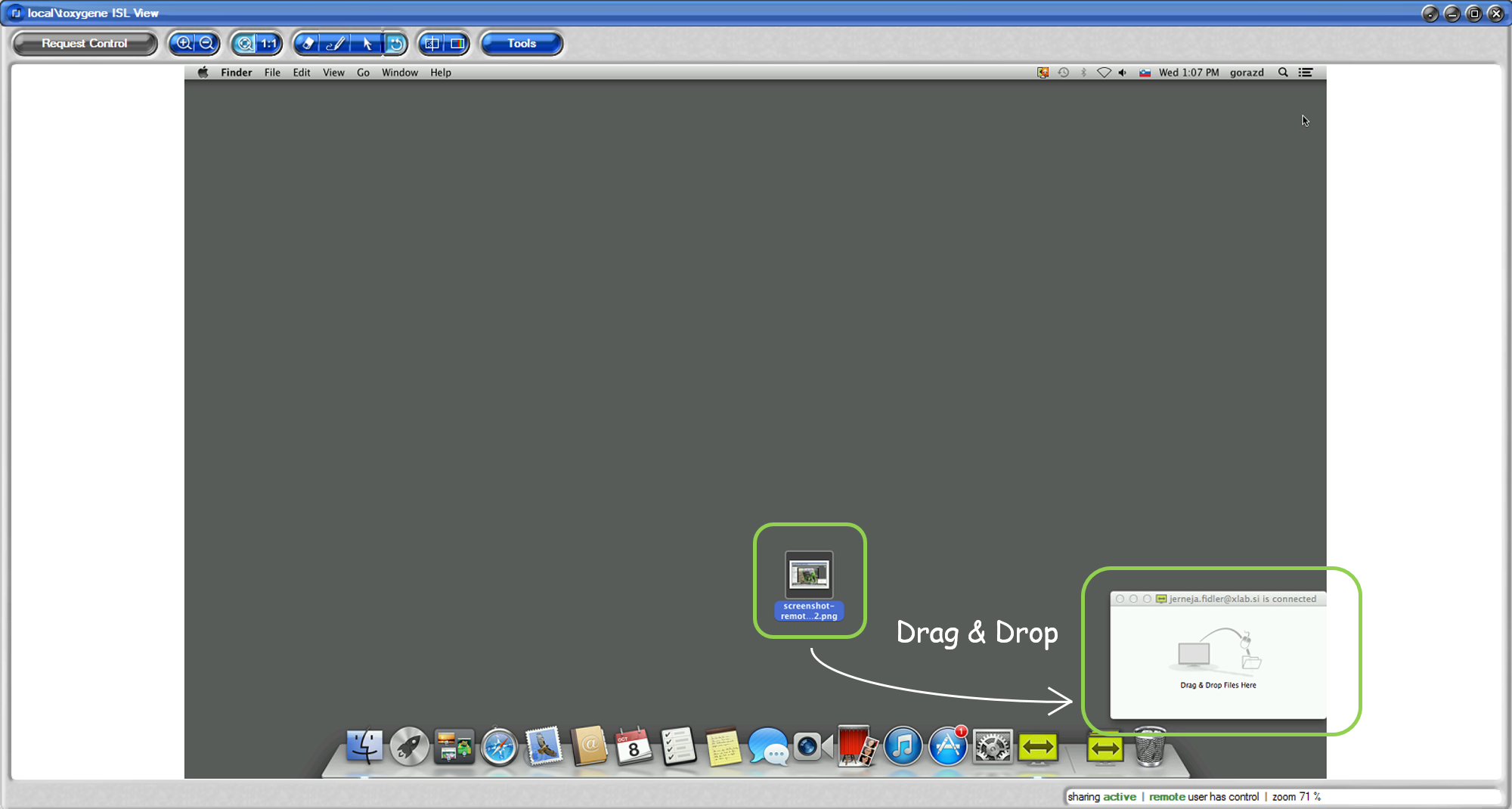 Islonline Mac Dragdrop Filetransfer