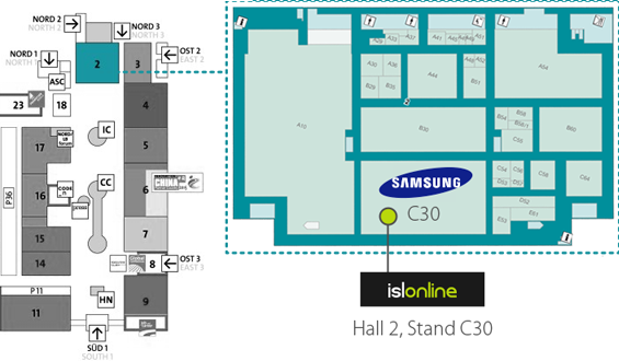 For the live-action look at how to access and control the brand new Galaxy S6 with the ISL Online premium app for Android and other remote support solutions, you are welcome to visit our stand, located within Samsung's stand in a prime location in Hall 2, C30.