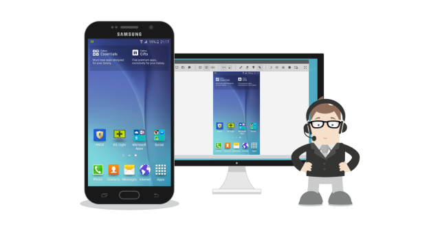 ISL Online lets you access just about any Samsung mobile device from another mobile device or computer and control it remotely.