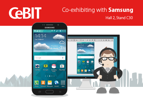ISL Online's enterprise remote control app for troubleshooting mobile devices and computers remotely will make a splash at this year's CeBIT.