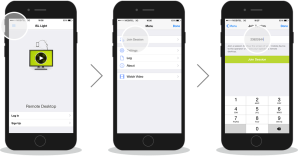 How to support iPhones and iPads remotely with ISL Light - the client accepts the session