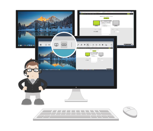 •	Easy control of multiple monitors