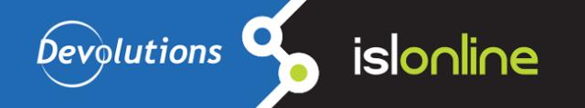 ISL Light integrated with Devolutions Remote Desktop Manager