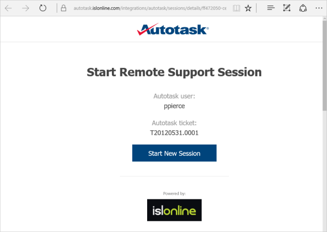 ISL Online integrates with Autotask to deliver best-in-class IT business management and remote desktop service