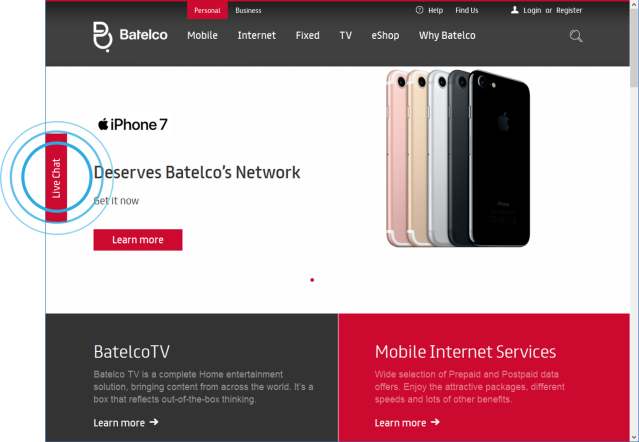 Bahrain Telecommunications Company (BATELCO) uses ISL Online Live Chat