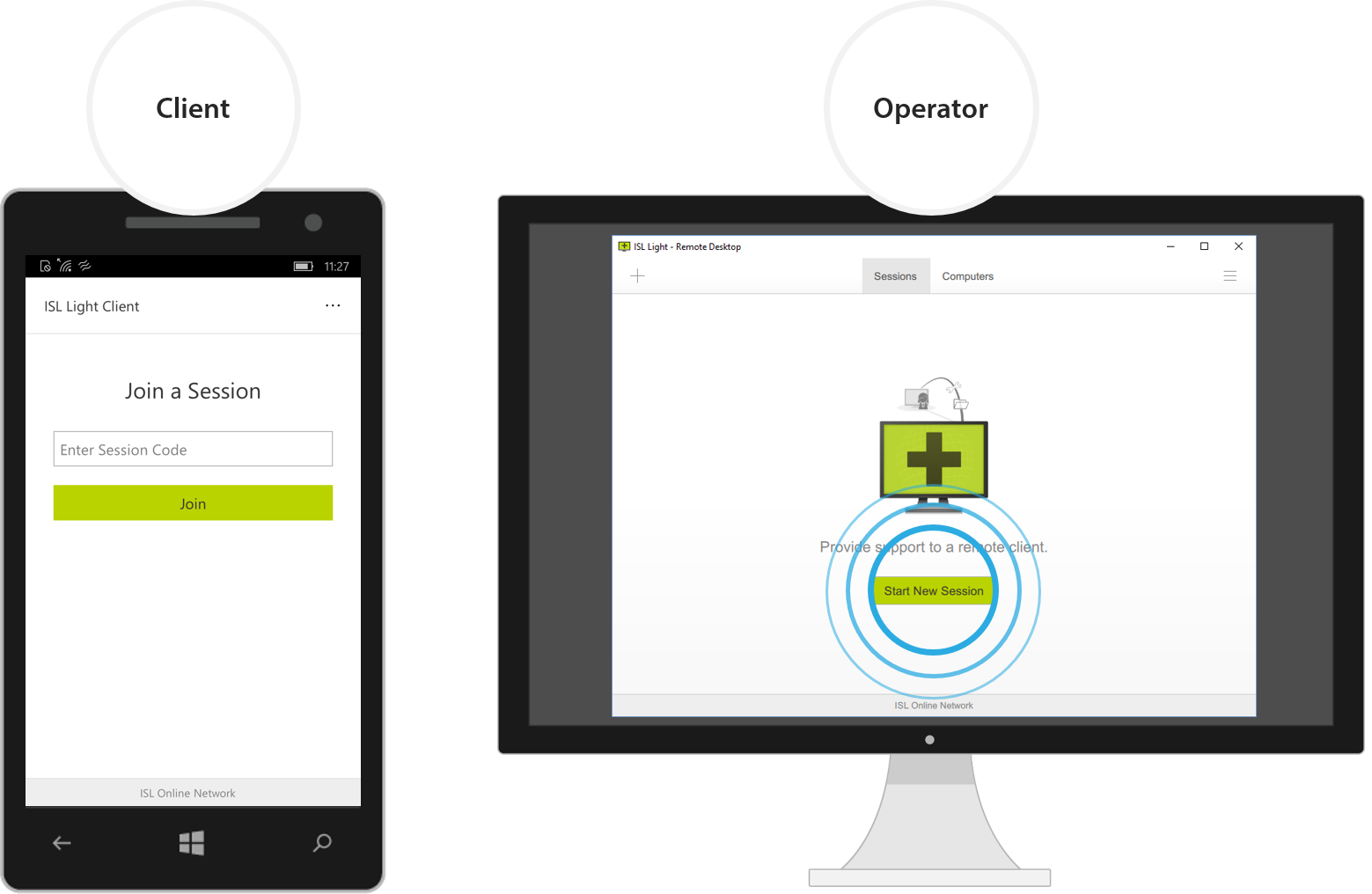 ISL Online releases a remote support app for Windows 10