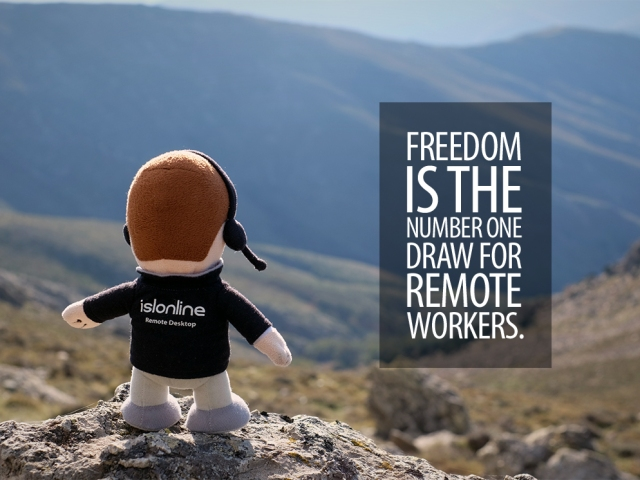 Mico quote; Freedom is the number one draw for remote workers.