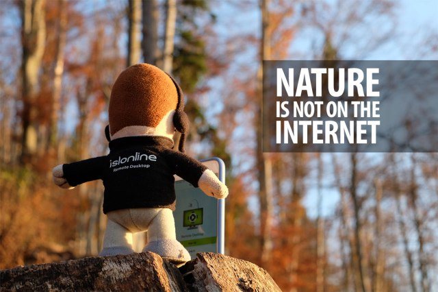Mico quote; Nature is not on the Internet