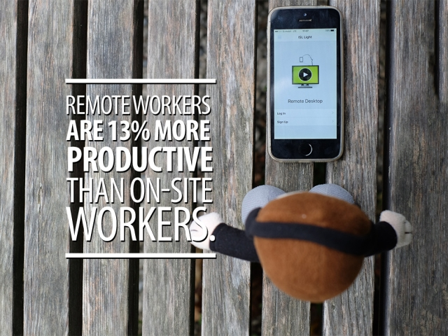 Mico quote; Remote workers are 13% more productive than on-site workers.