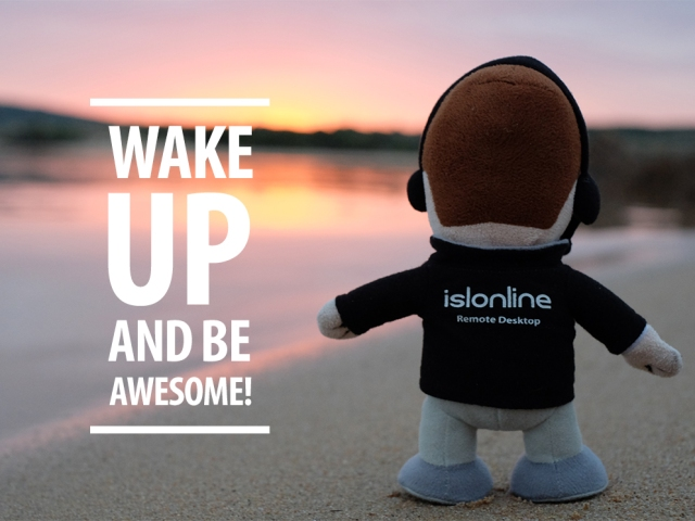 Mico quote; Wake up and be awesome!
