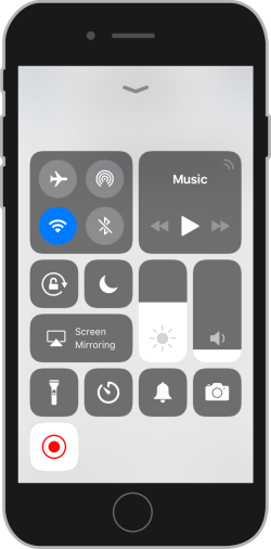 Open Control Centre on iPhone