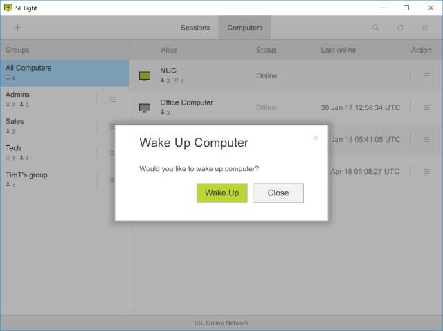 Wake up computer