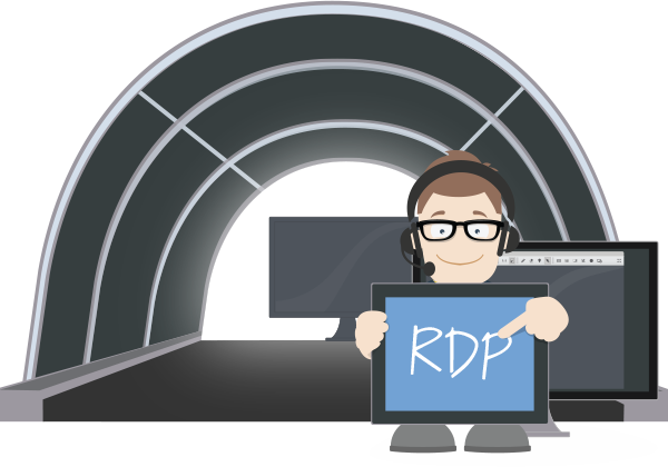 Secure RDP connection via ISL Online
