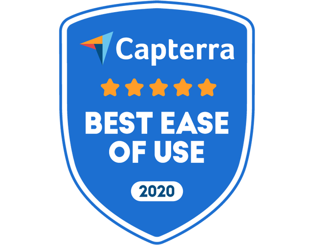 Captera badge - Best ease of use 2020